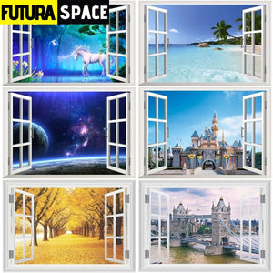 SPACE STICKERS - 3d Window - 200001461