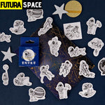 SPACE STICKERS - 45 Pcs/Box Astronaut - 200003295