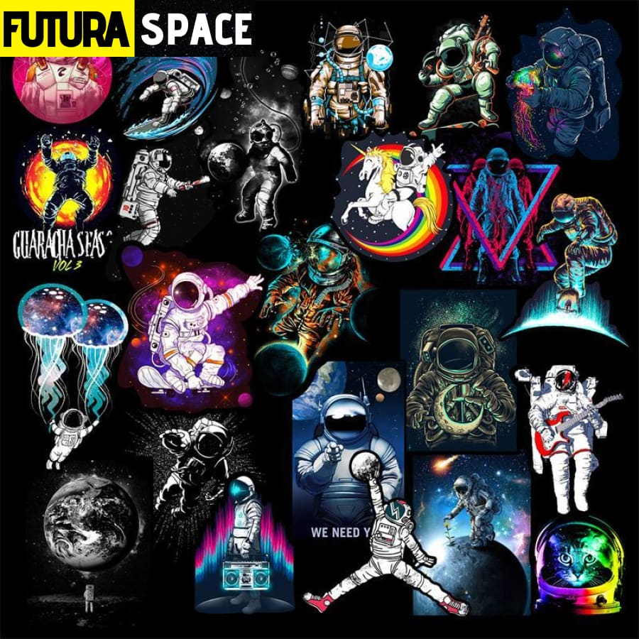 SPACE STICKERS - 50 Pcs Outer Space Anime - Outer Space