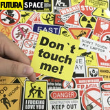SPACE STICKERS - 50 Pcs Warning - 200003295