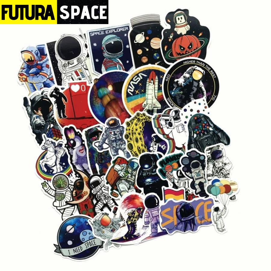 SPACE STICKERS - 50Pcs for Laptop