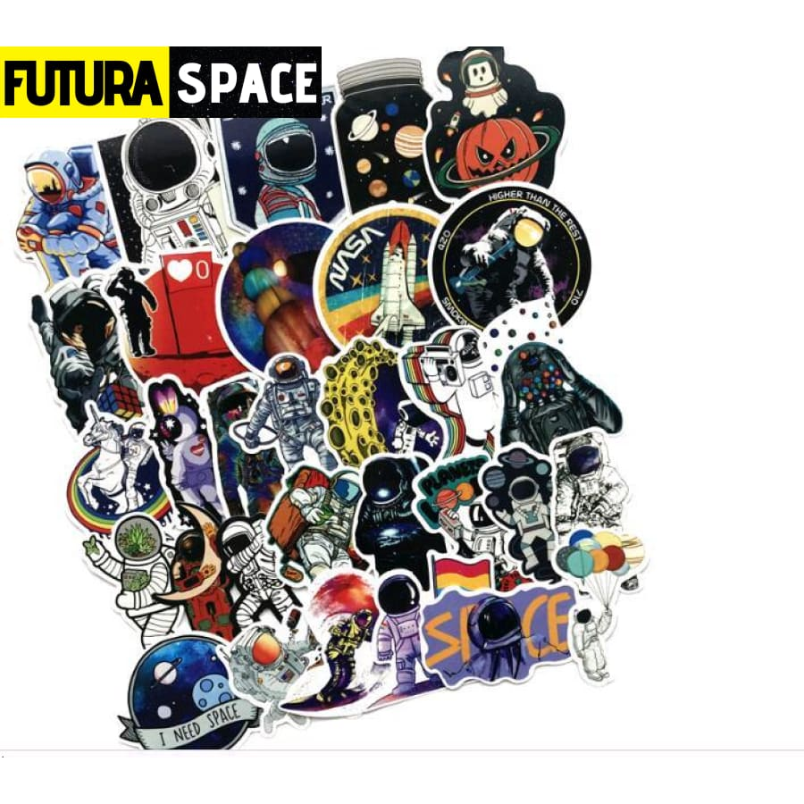 SPACE STICKERS - 50Pcs Futura Space