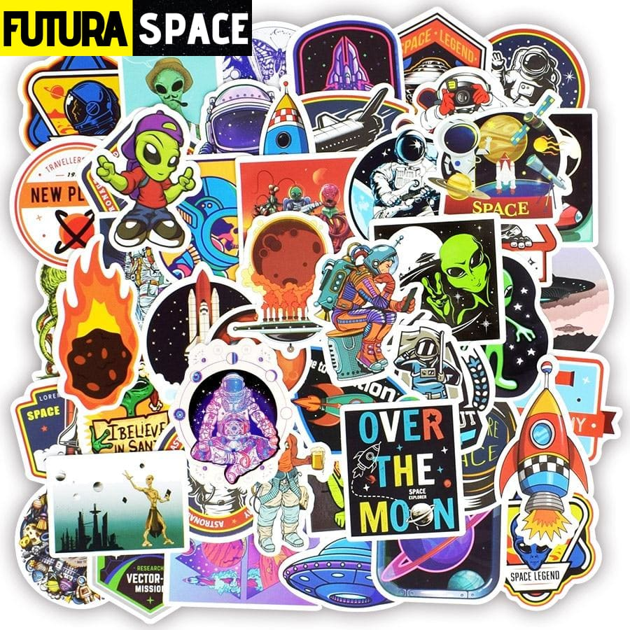 SPACE STICKERS - Scrapbooking