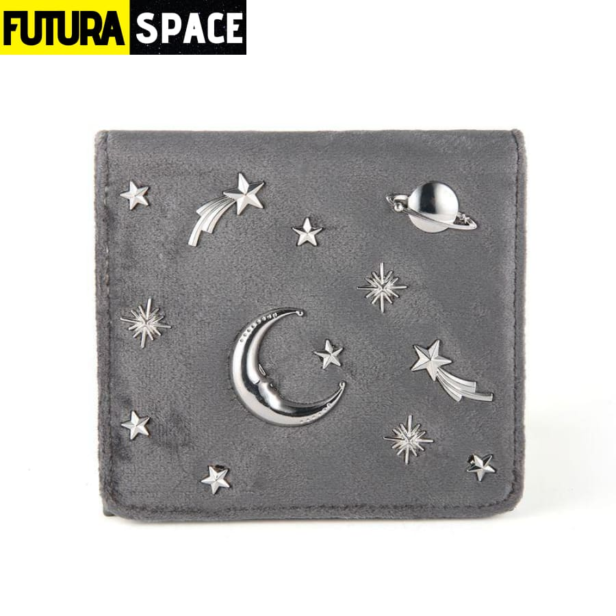 SPACE WALLET FOR WOMEN (Leather) - Gray - 152405