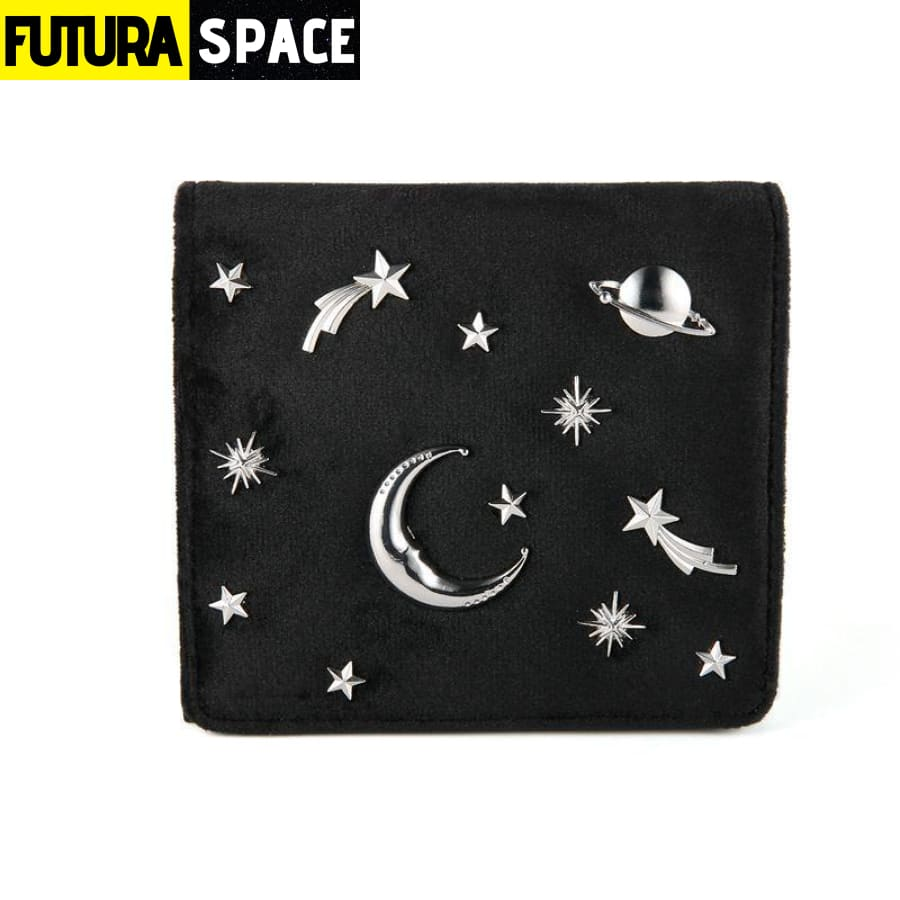 SPACE WALLET FOR WOMEN (Leather) - Black - 152405
