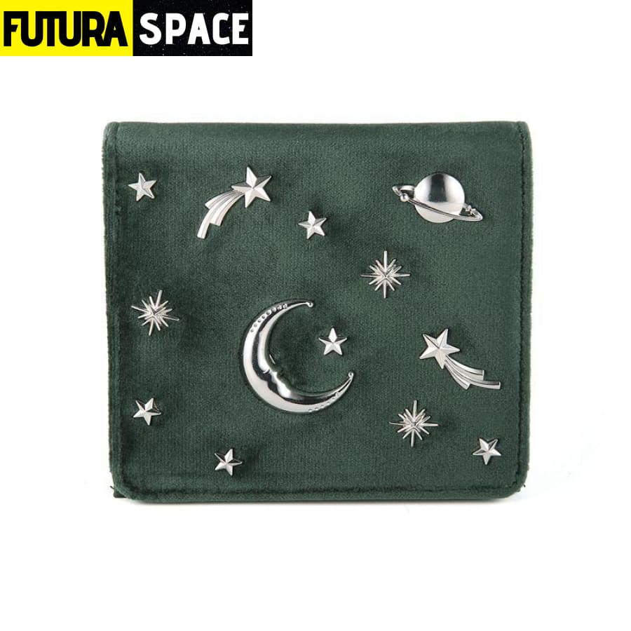 SPACE WALLET FOR WOMEN (Leather) - Green - 152405