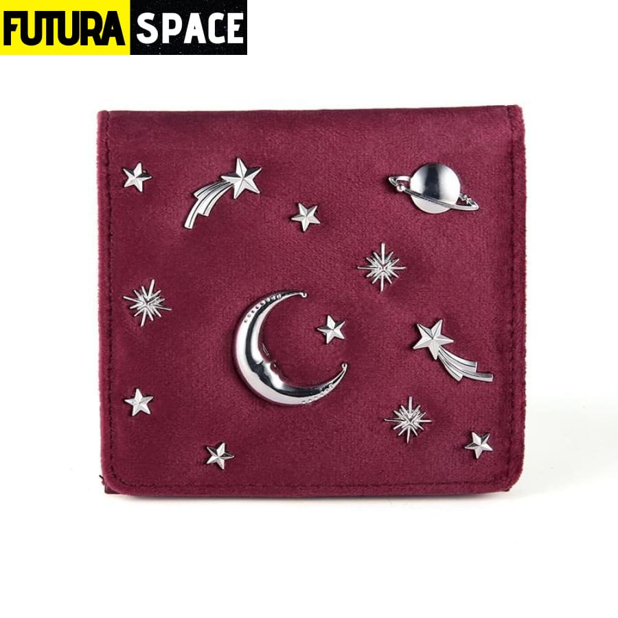 SPACE WALLET FOR WOMEN (Leather) - Red - 152405