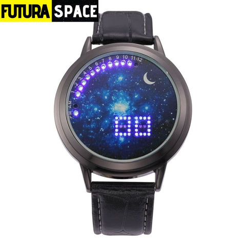 SPACE WATCH - Moon - black blue - 200363144