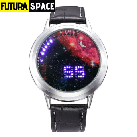 SPACE WATCH - Moon - silver red - 200363144