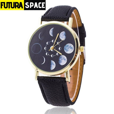 SPACE WATCH - Moon Phase - Black - 200363144