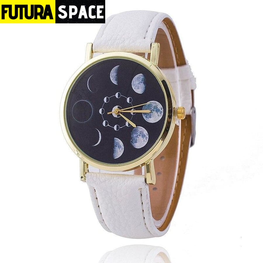 SPACE WATCH - Moon Phase - White - 200363144
