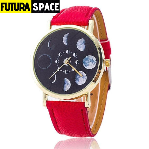 SPACE WATCH - Moon Phase - Red - 200363144