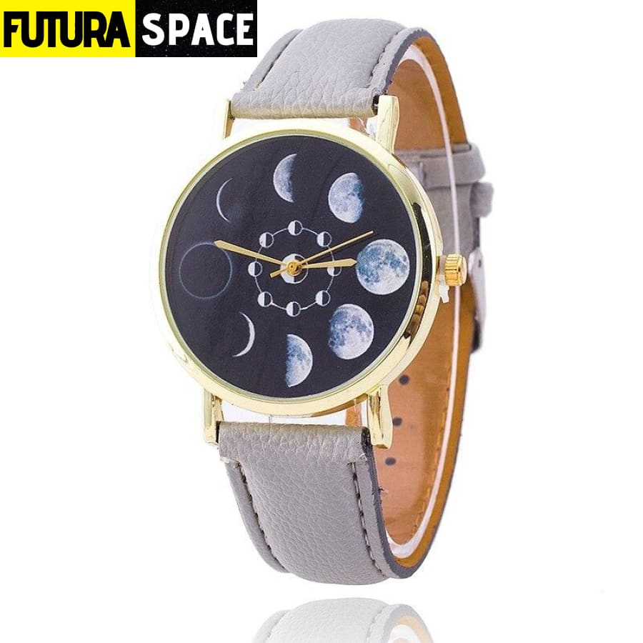 SPACE WATCH - Moon Phase - Grey - 200363144
