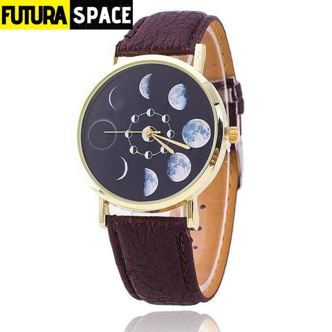 SPACE WATCH - Moon Phase - Brown - 200363144
