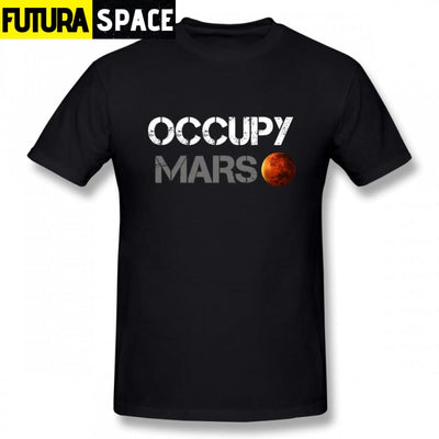 Space X T shirt - Occupy Mars - Black / S - 200000783