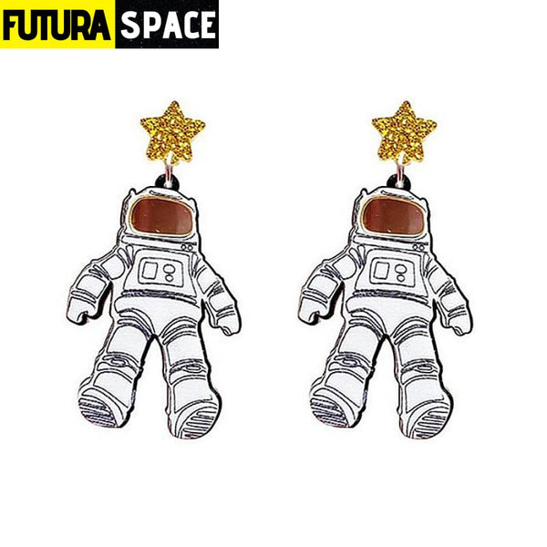 SPACEMAN ASTRONAUTS EARRINGS - ACRYLIC - Same as photo -