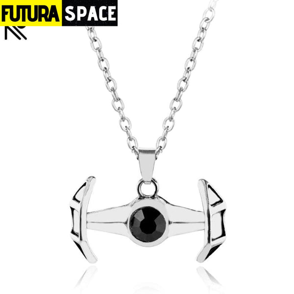 SPACESHIP FALCON NECKLACE - men jewelry - 200000162