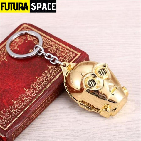 Spaceship K-2SO Falcon Keyrings - gold - 200000174