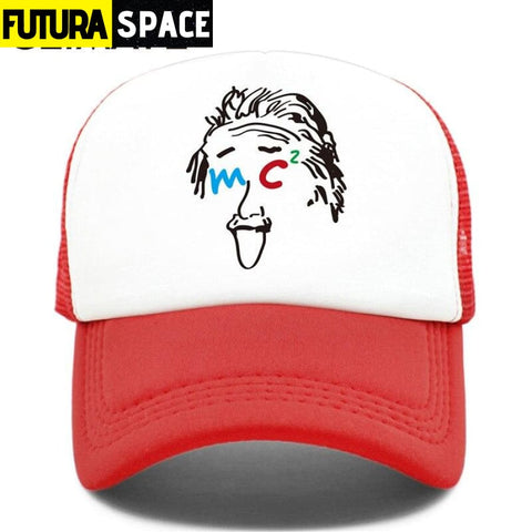 TRUCKER SPACE CAP - Red / Fits 52to55cm Head - 200000403
