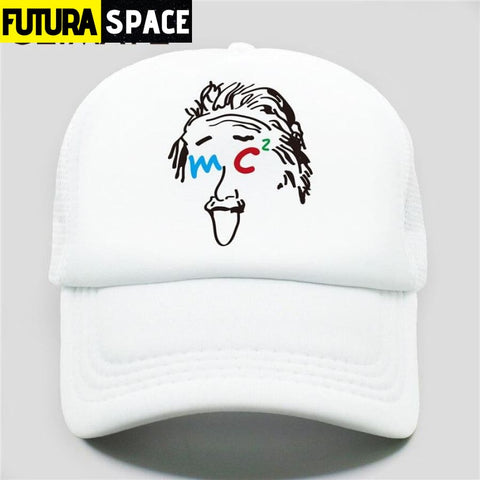 TRUCKER SPACE CAP - Full White / Fits 52to55cm Head -