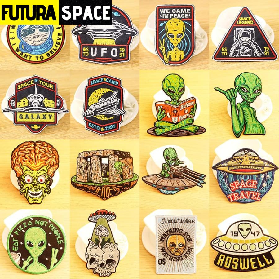 UFO Alien Patch Outer Space - 100005735