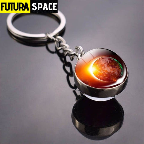 Univers Planet Keychain - White - 200000174
