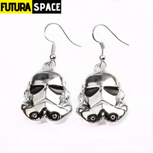 WHITE SPACE WARRIOR EARRINGS - SILVER - 200000171