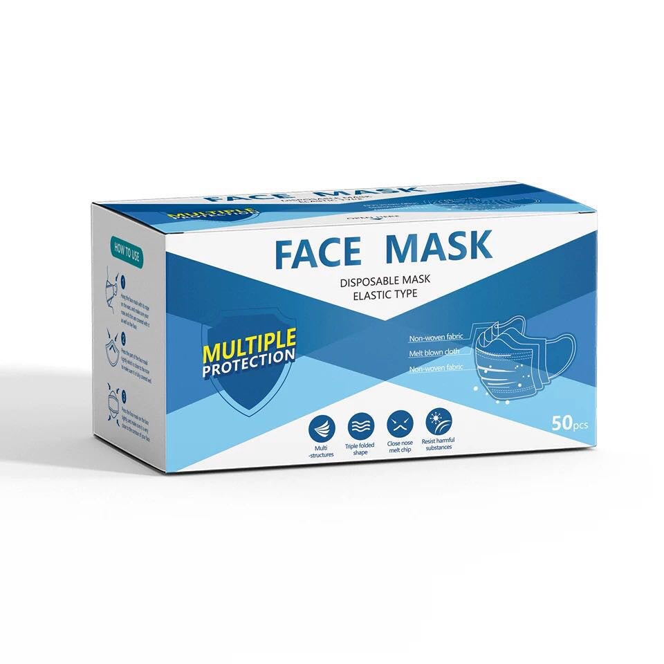 Disposable Face Mask - 50 units