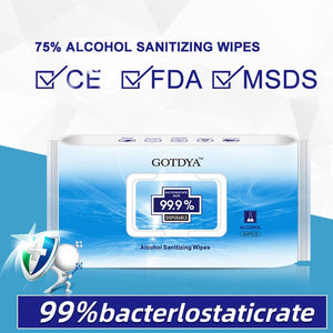 Alcohol Sanitizing Wipes - 20 Packs | 50 count each