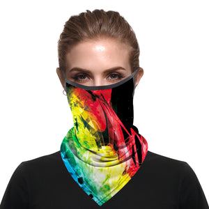 Seamless Face Cover Mouth Mask Scarf with ear loops (3 pieces)