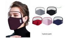 Load image into Gallery viewer, Face Mask with Eyes Shield (5 pieces)