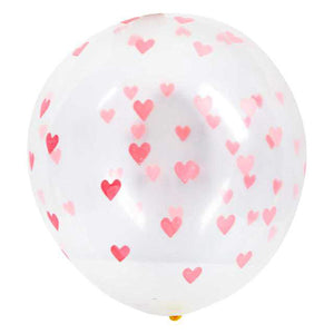 RED HEART PATTERN BALLOONS
