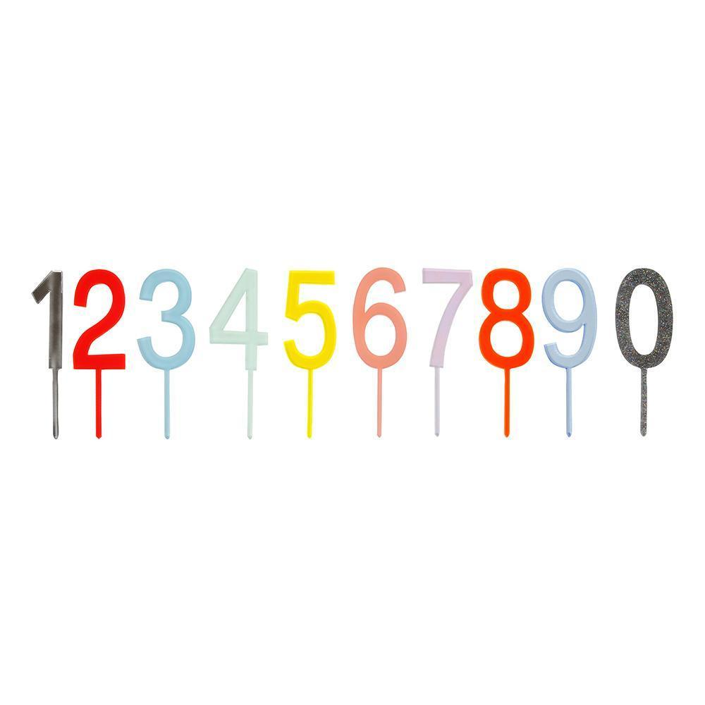 MULTICOLOR NUMBERS CAKE TOPPER