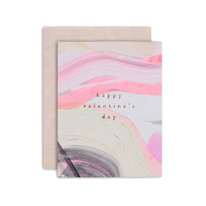 HAPPY VDAY PINK PAINT CARD