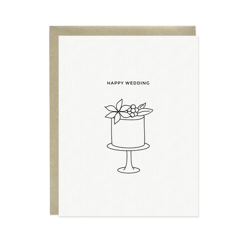 HAPPY WEDDING CAKE CARD