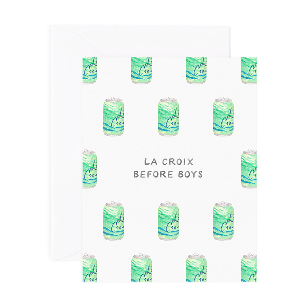 LA CROIX BEFORE BOYS CARD