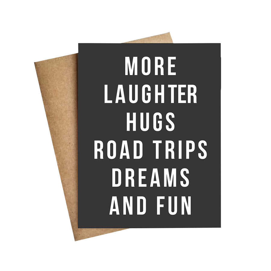 MORE LAUGHTER ROAD TRIPS CARD