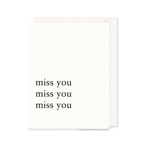 MISS YOU X3 CARD