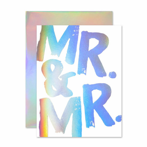 MR & MR HOLOGRAM CARD