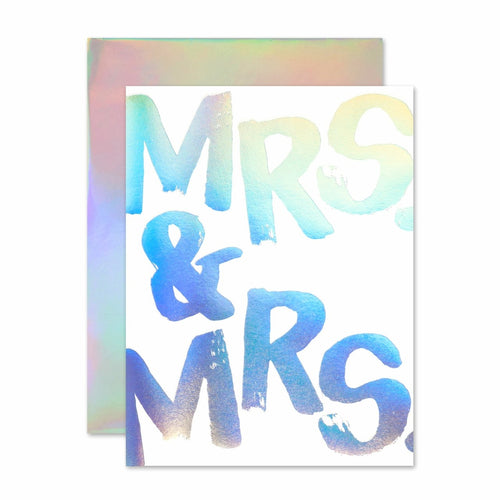MRS & MRS HOLOGRAM CARD