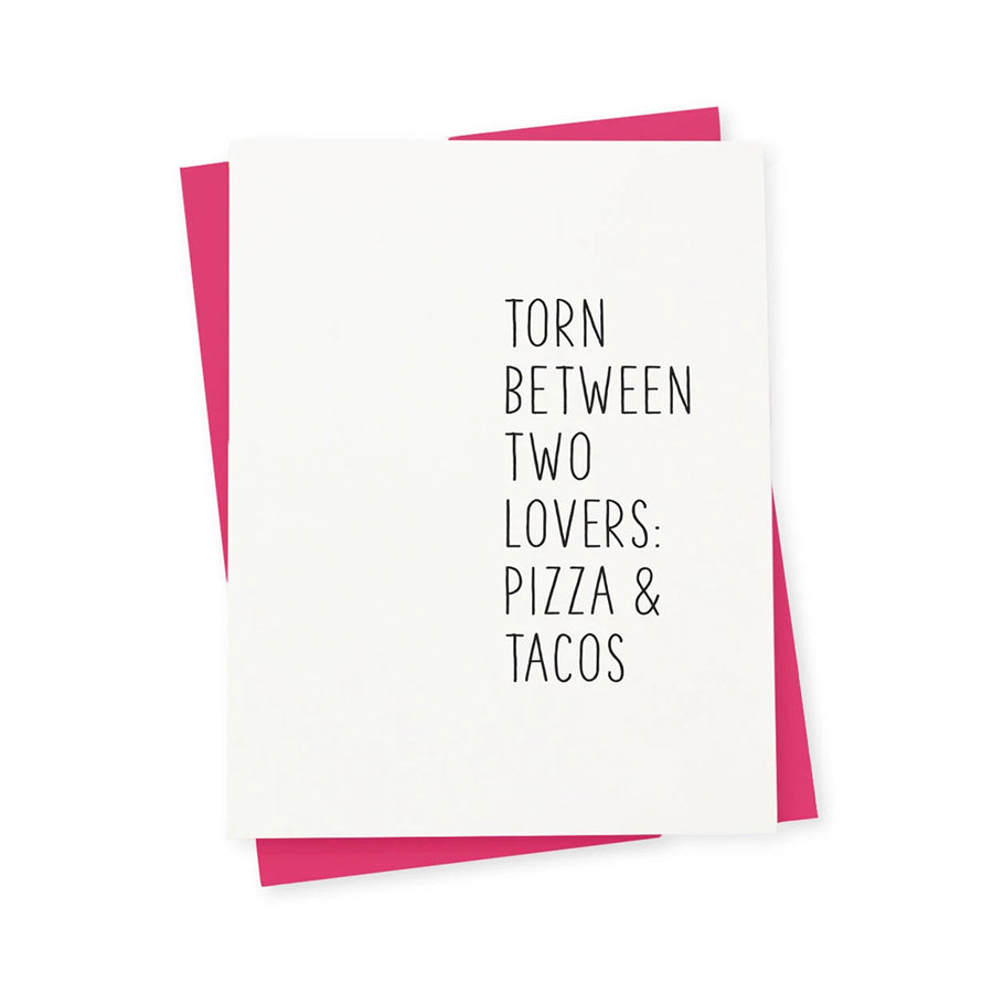 TWO LOVERS PIZZA & TACOS CARD