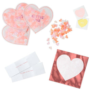 HEART CONFETTI VDAY CARD SET