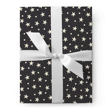 Load image into Gallery viewer, B&W STARS + DOTS GIFT WRAP
