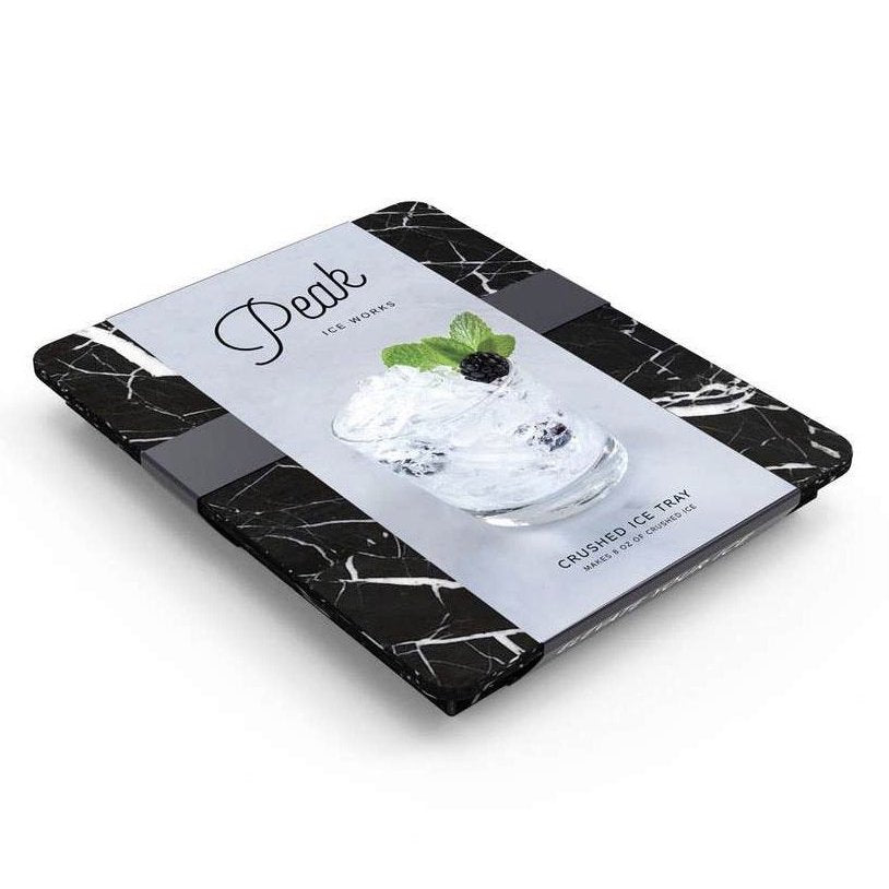 CRUSHED ICE TRAY BLACK MARBLE
