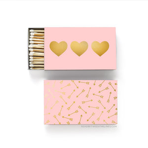 PINK HEARTS & ARROWS MATCHBOX