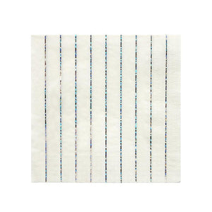 LARGE SILVER HOLOGRAPHIC STRIPE NAPKINS