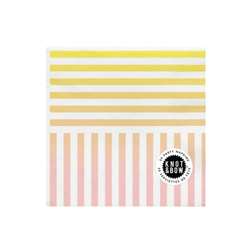 RAINBOW STRIPE NAPKINS