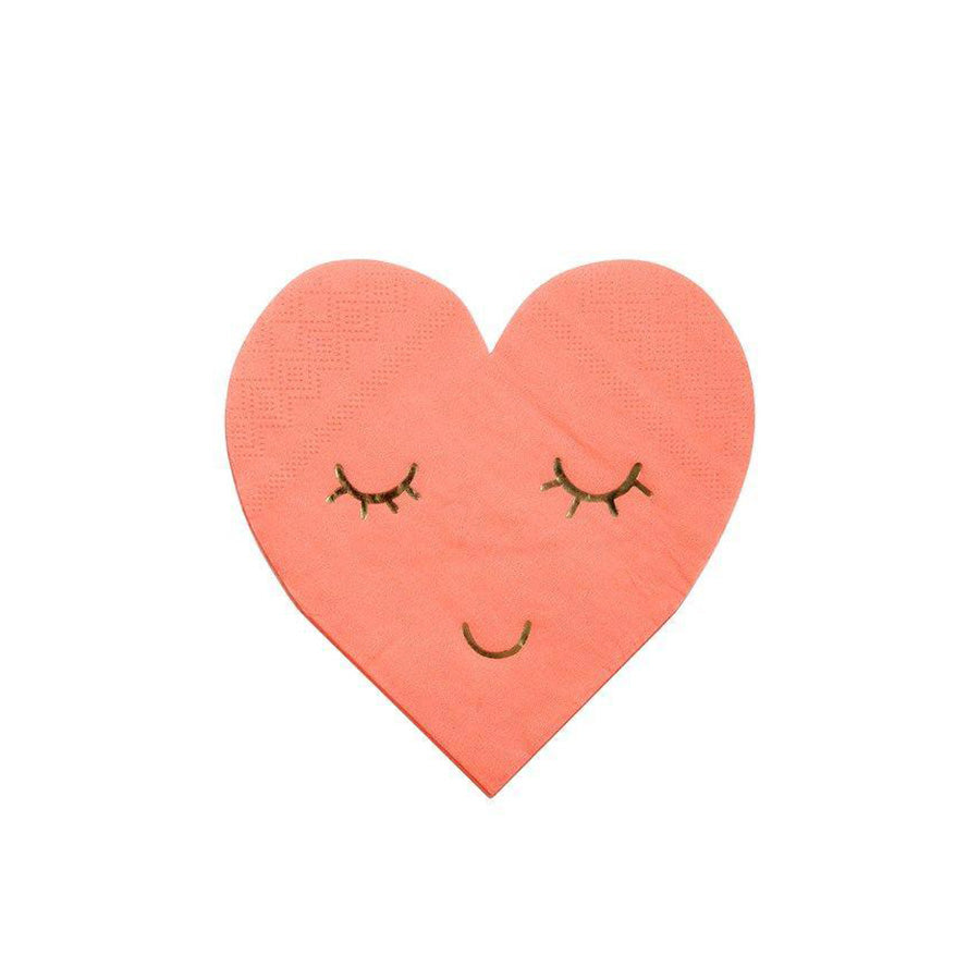 PINK HEART EYES NAPKINS
