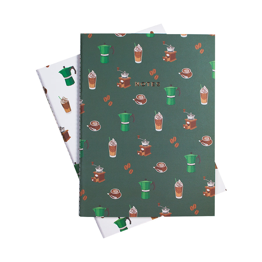 COFFEE PRINT NOTEBOOK