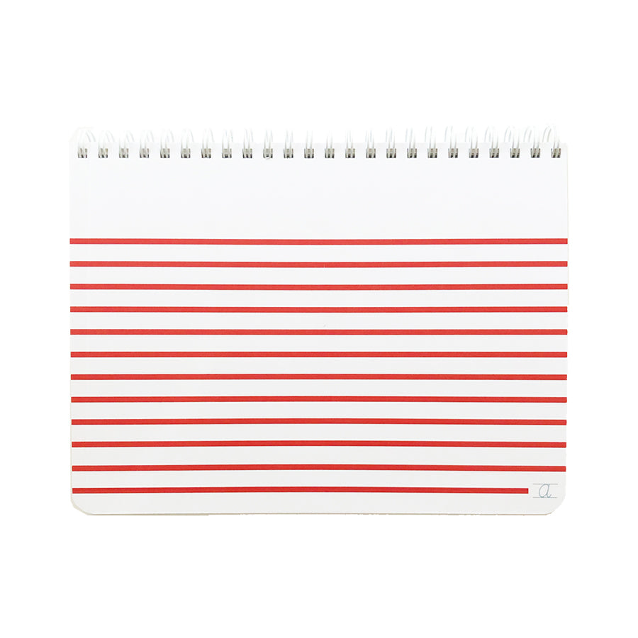 KIDS STRIPED RED NOTEBOOK